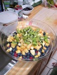 Fruit salad almost done!