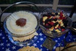Manchego with the homemade quince paste & fresh fruit salad