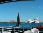 Leaving Nassau on our catamaran cruise for our excursion