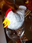 Black speckled hen