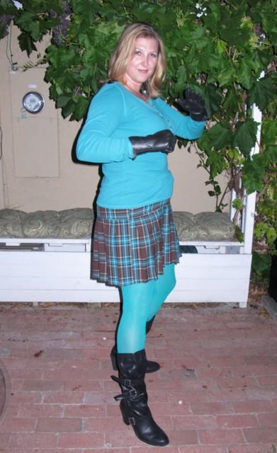 Teal Girl ala Hit Girl for Kick-Ass! on August 3rd