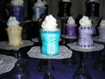 Mini corset cupcakes
