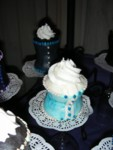 More turquoise corset cupcakes