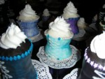 More closeups to show the candy trim detail that was all placed by hand onto buttercream icing