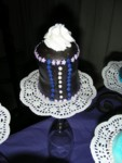 One of the Guinness corset cupcakes