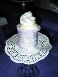Lavender mini corset cupcake