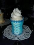 Turquoise mini corset cupcake