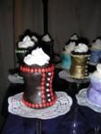 Closeup of more corset cupcakes