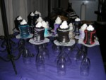 Corset Cupcakes, back view showing lacing