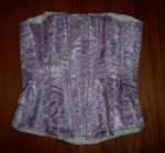 Lavender dragon corset ready for lacing!