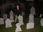 Witchy Kat in the Graveyard