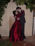 Scarlett Nathania & Rhett Kevin mimic the Gone With the Wind poster