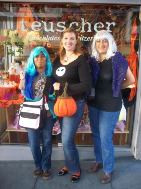 Grownup trick or treating on the Gourmet Chocolate Walk tour in San Francisco on Halloween Day