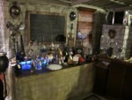 The Laboratory glowing in the Steampunk Study