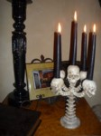 New skull candelabra