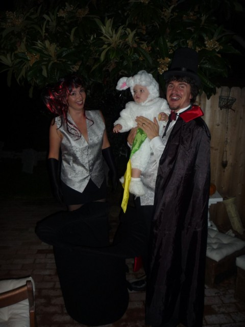 Magician Dave, Lady Wendy & Jax the White Rabbit