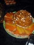Robert & Maureen's Creepy Cuisine - delicious pumpkin chocolate chip bundt cake and cute candy corn cookies