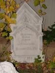 Mina's elaborate gravestone