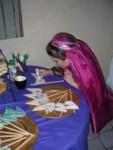 Ashlyn decorating an edible mask