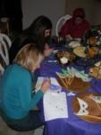 Tracia, Auden & Leisa decorating edible masks