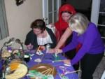Cyd, Tracia & Leisa decorating edible masks