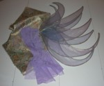 Finished wings shown with dress & bodice fabric for color blend