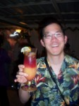 Volunteer bartender Kevin should have had a tip jar! His hurricanes were mighty tasty!