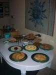The roadie food table for the Brittahytta Beatles