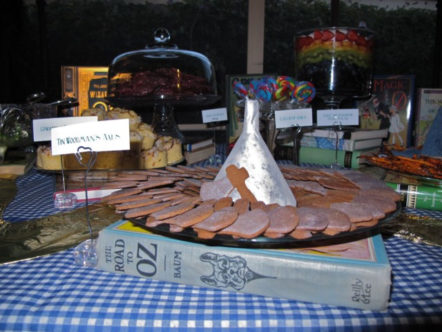 gingerbread axes surrounding the Tin Woodman's funnel hat