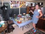 Dorothy Britta with the very special Oz menu & decor