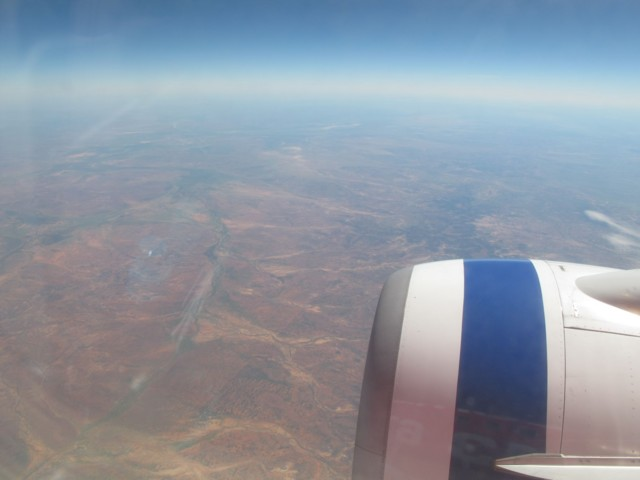 Somewhere over central Australia