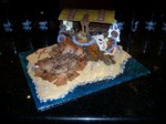 Highlight for Album: Pirate Treasure Birthday Cake for Ashlyn