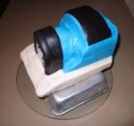 blue & black marshmallow fondant on Thomas' body
