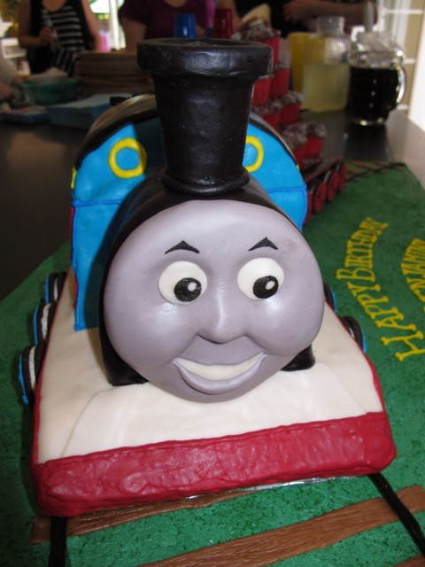 closeup of Thomas' happy face