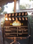 new Cinema Brittahytta logo on the director's clapboard