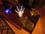 glowstick stirrers & glowing ice cubes
