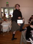The Flying Scotsman table had a real kilt!