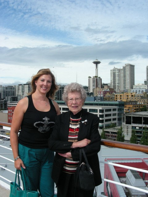 Britta & Grandma on board in Seattle
