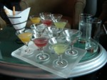 Our mini-martini tasting flight