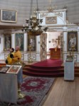 Inside St Michael's Russian Orthodox Cathedral in Sitka