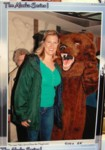 Photo op leaving the ship...silly bear!