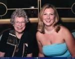 Grandma & Britta at dinner first formal night