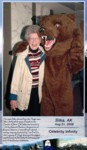 Photo op leaving the ship...silly bear, but what a great laugh on Grandma's face! :)