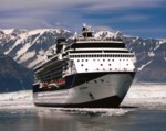 stock photo of the Celebrity Infinity at Hubbard Glacier