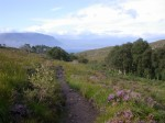 Looking back at Loch Torridon from the trail up the glen