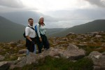 Ben & Britta at the top of the first horn of Beinn Alligin - there are three horns and the third one is 3300ft!