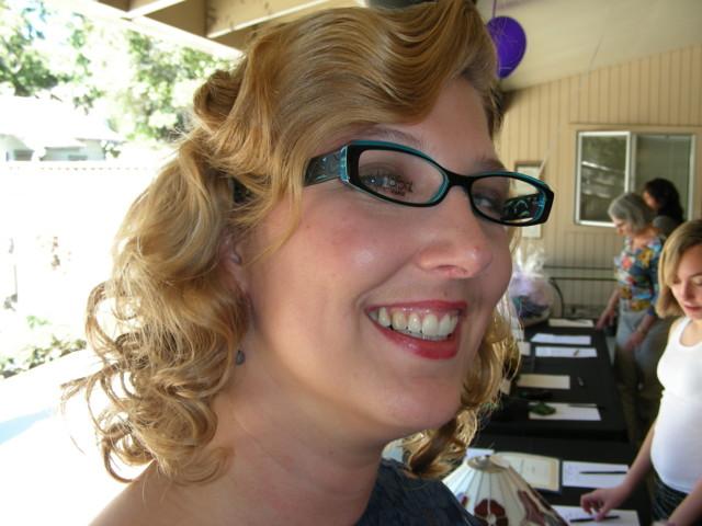 Teal glasses! LOL