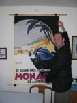 Patrick, happy silent auction winner of the Monaco poster!