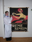 Melanie, happy silent auction winner of the Creme Simon poster!