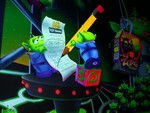 ...and the little green men return the Emperor Zurg action figure to the store! ;)